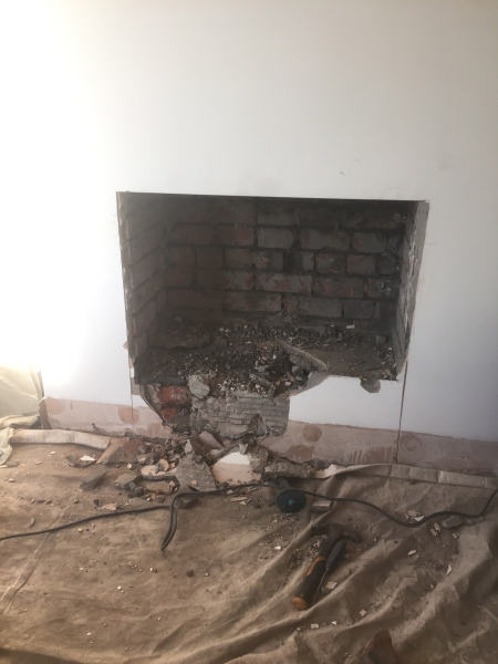 Opening up of chimney
