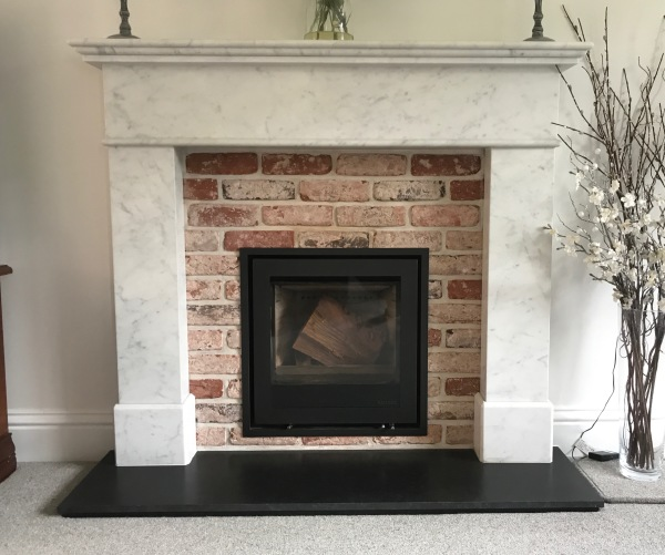 Marble fireplace, wood burning stove, stove fitter Bristol, Bristol stove installer