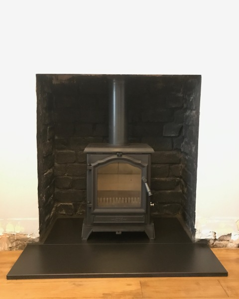 Fireplace opening, multi fuel stove, wood burner, stove installation