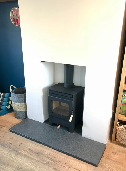 Bristol wood burning stove installation, granite hearth installer, stove installer Bristol