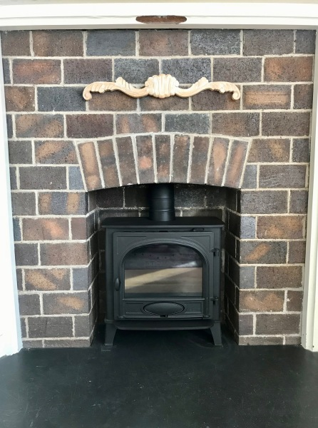 Log burner installation bristol, wood burning stove, brick fireplace