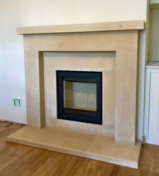 Stone fireplace, inset stove, woodburner, log burner installation, fireplace installation bristol